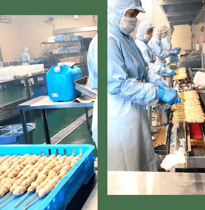 自社工場で食材の調達